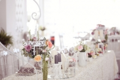 Vintage wedding table beautifully decorated